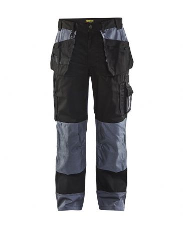 Blaklader 1503 Craftsman PolyCotton Trousers (Black/Grey)